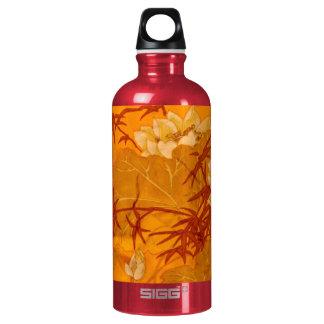 Oriental Orange Aluminum Water Bottle