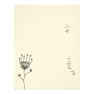 Oriental ornate flower henna sketch drawing letterhead
