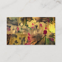 Oriental Painting. Japanese style Business Card