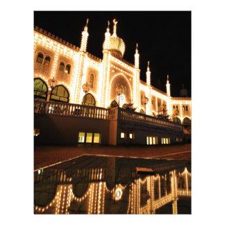 Oriental palace at night letterhead