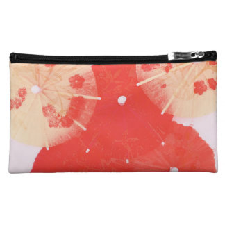 oriental paper cocktail umbrellas cosmetic bag
