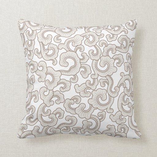 Oriental Pattern Decorative Pillow Zazzle