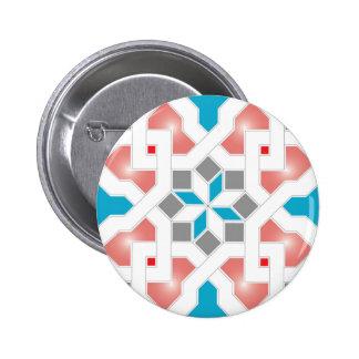 Oriental Pattern - Geometric diseño Pt.1 Pin Redondo De 2 Pulgadas