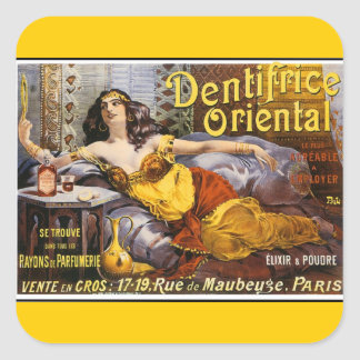 Oriental Perfume Paris France Square Sticker