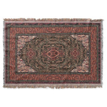 Oriental Persian Antique Red Throw