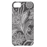 Oriental Persian Paisley, Dots - Black White iPhone 5C Cases