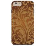Oriental Persian Paisley, Swirls - Brown Black Tough iPhone 6 Plus Case