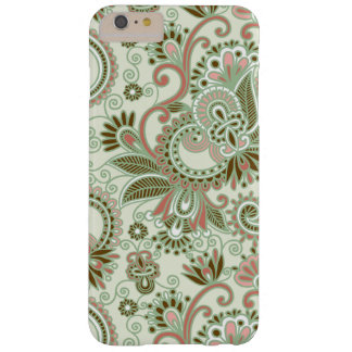 Oriental Persian Paisley, Swirls - Green Pink Barely There iPhone 6 Plus Case