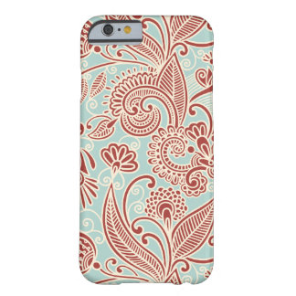 Oriental Persian Paisley, Swirls - Red Blue Barely There iPhone 6 Case