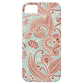 Oriental Persian Paisley, Swirls - Red Blue iPhone SE/5/5s Case