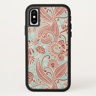 Oriental Persian Paisley, Swirls - Red Blue iPhone X Case