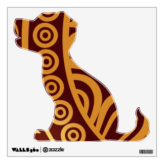 Oriental Persian Paisley, Swirls - Red Yellow Wall Decal