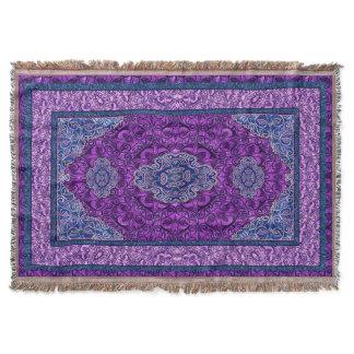 Oriental Persian Purple Throw Blanket
