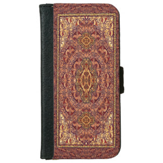 Oriental Persian Red Gold Wallet Phone Case For iPhone 6/6s