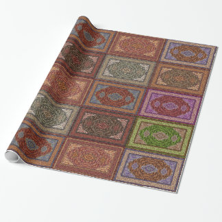 Oriental Persian Rug Pattern Wrapping Paper