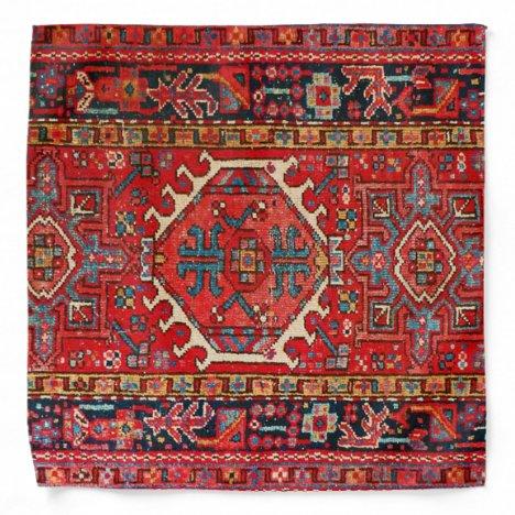 Oriental Persian Turkish Rug Carpet Bandana