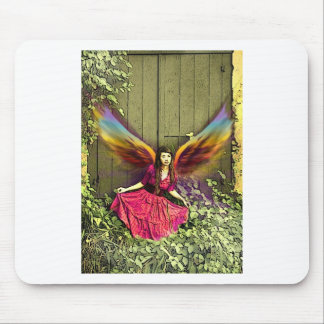 oriental pink fairy girl mouse pad