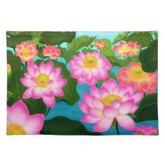 Oriental Pink Lotus Garden Placemat