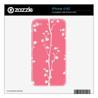 Oriental plum blossom pattern iPhone 4 skins