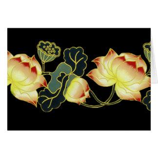 Oriental Poppies Note Card - Blank