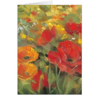 Oriental Poppy Field Card