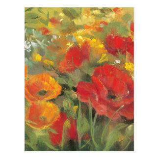 Oriental Poppy Field Postcard