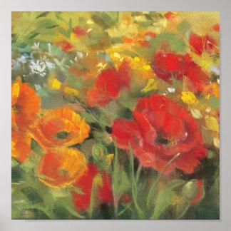 Oriental Poppy Field Print