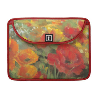 Oriental Poppy Field Sleeve For MacBooks