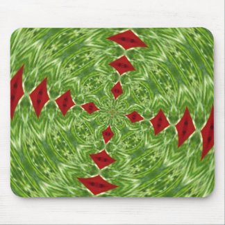 Oriental Poppy Fractal Mouse Pad