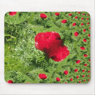 Oriental Poppy Fractal Mousepad