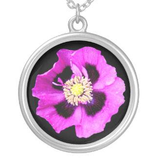 Oriental Poppy necklace black