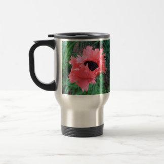 "Oriental POPPY ""Pink Ruffles"" --- Travel Mug"