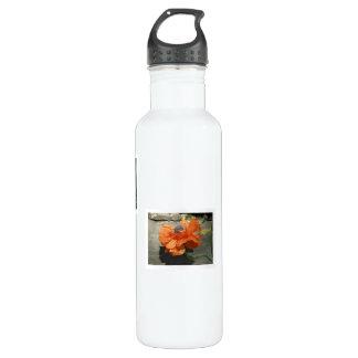 Oriental Poppy Stainless Steel Water Bottle