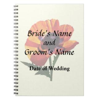 Oriental Poppy Wedding Products Notebook
