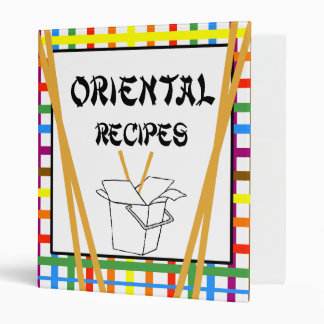 Oriental Recipes Binder