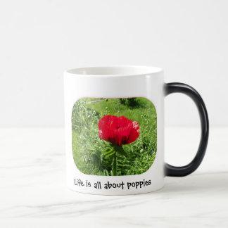 Oriental Red Poppy Morphing Mug