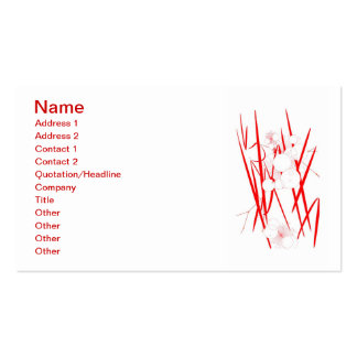 oriental red slash digital art random abstract Double-Sided standard business cards (Pack of 100)
