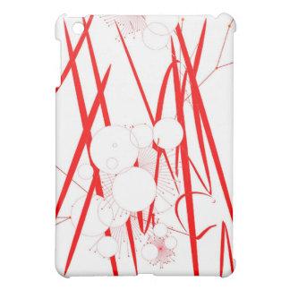oriental red slash digital art random abstract cover for the iPad mini