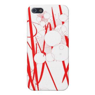 oriental red slash digital art random abstract cases for iPhone 5