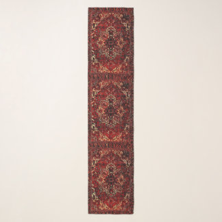 Oriental rug design in  dark red scarf