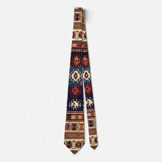 Oriental rug in autumn colors neck tie