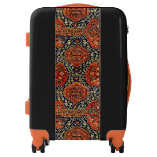 Oriental rug in blue&orange luggage