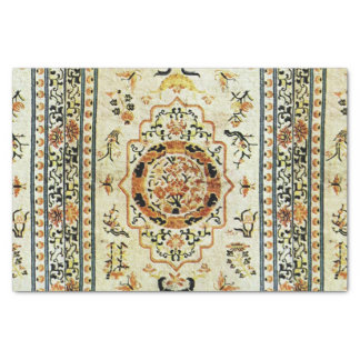 """Oriental rug in  light colors 10"""" x 15"""" tissue paper"""