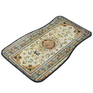 Oriental rug in light colors car mat