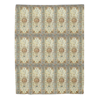 Oriental Rug In Light Colors Duvet Cover at Zazzle