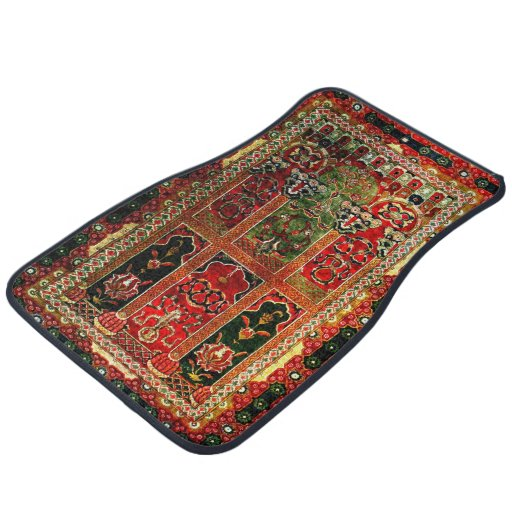 Oriental Rug In Red And Green Car Mat Zazzle