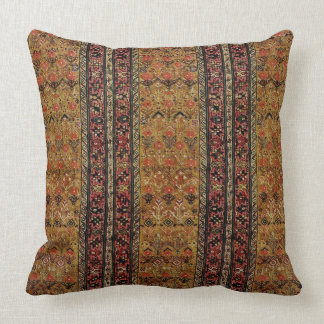 Oriental rug in warm colors throw pillow