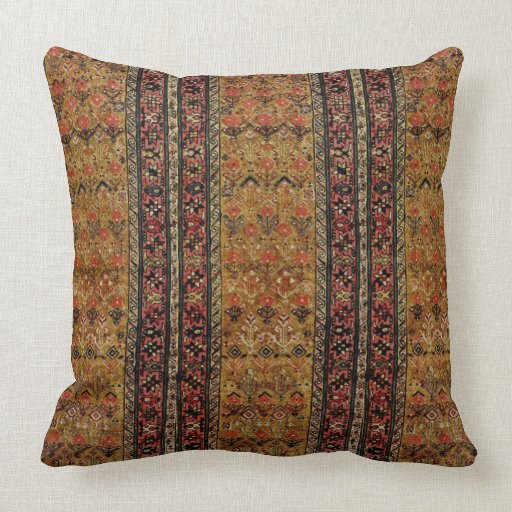 Throw Pillows With Matching Rug : Oriental rug in warm colors throw pillow Zazzle