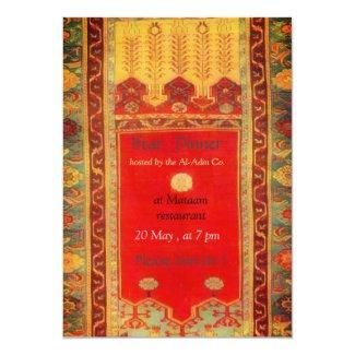 Oriental rug Ladik style - iftar dinner Invitation