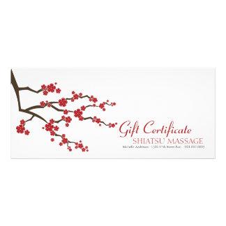 Oriental Sakuras Cherry Blossoms Gift Certificate Custom Rack Card